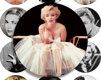 All time Divas images large circles for pocket mirrors and more digital collage sheet No.1199