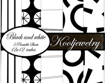 Black and White Paper Pack - No. 114