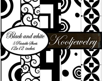 Black and White Paper Pack - No. 115