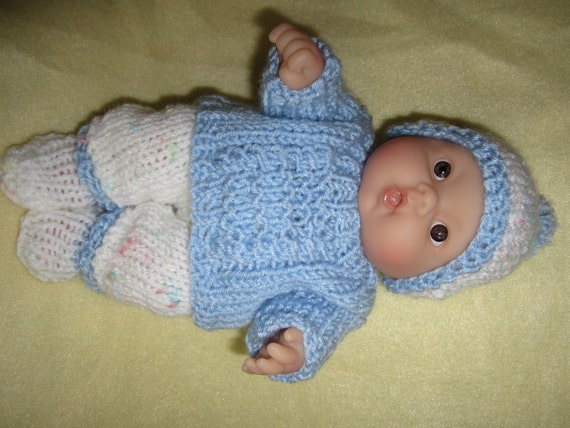 Knitted Doll Clothes For 8 Inch Chubby Berenguer Baby Doll