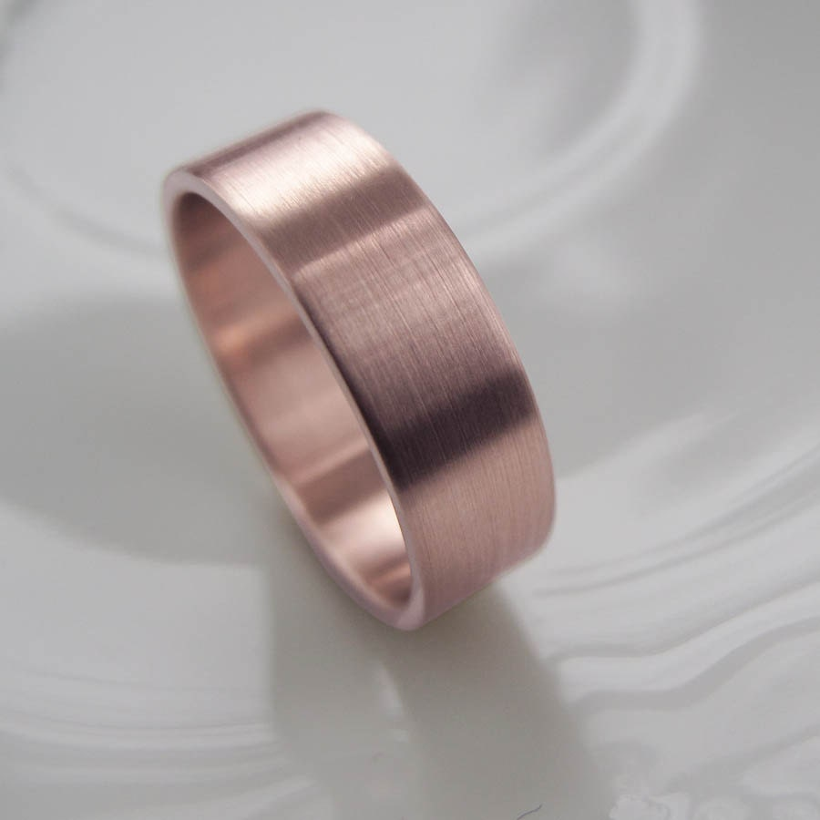 Rose Gold Diamond Ring Band Rose Gold Men 39 s Wedding Band