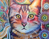 Abstract Cat Art ... Olivia, 8 x 10 glossy print
