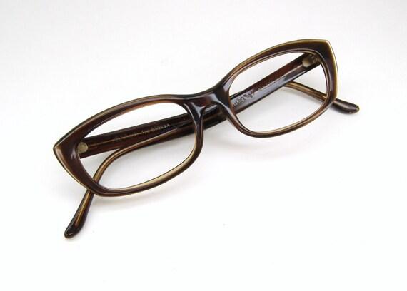 Vintage womens cat eye eyeglasses sunglasses art craft frame for Art craft eyeglasses vintage