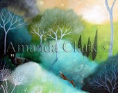 Art print by Amanda Clark. 'Homeward.'