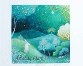 Special edition art print with gold leaf.  Star Light . By Amanda Clark.