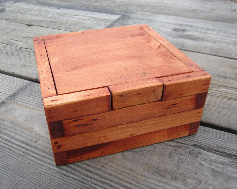 Wood Memory Box Rustic Home Decor Keepsake Stash Box