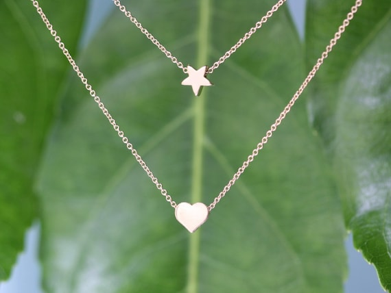 Free Shipping in US -  Star of my Heart  Necklace  -  Summer dainty necklace