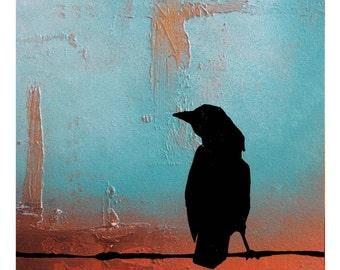 Crow - 8 x 10, Modern Contemporary Abstract Art FINE ART PRINT by Shanna