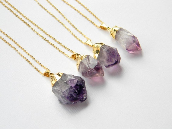 amethyst crystal necklace - photo #21