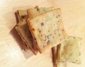 Organic Tuscan Herb and Sea Salt Homemade Rustic Crackers - 6oz