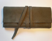Leather wallet unisex leather colors vary