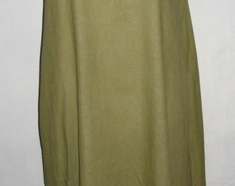 Summery Two Tone Green Cotton Shift Dress Size M to L