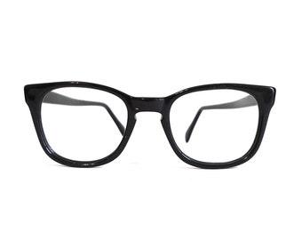 designer vintage nos black wayfarer style eyeglass frames sunglasses geek arnel