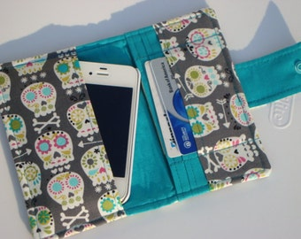 iphone Card Wallet - Cell Phone Case iphones 4s, 5, 6, 6 Plus - PICK your FABRIC -Group One
