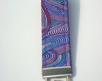 Wristlet Key Fob / Key Chain - Purple Swirl