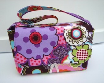 Super Size Coupon Organizer / Budget Organizer Holder Box - Attaches to Your Shopping Cart - Retro Floral
