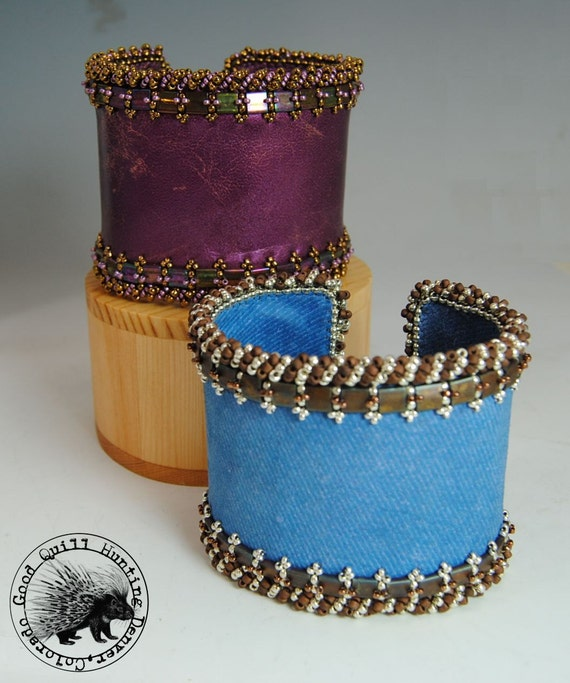 Guinevere bead embroidered cuff tutorial