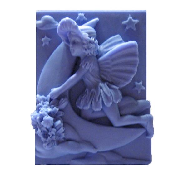 Fairy Soap - Vegan Soaps - Organic Soap - Crescent Moon - Decorative Soap -  Glycerin Soap - Moisturizing  - Fragrance Oil  Mulberry Scent