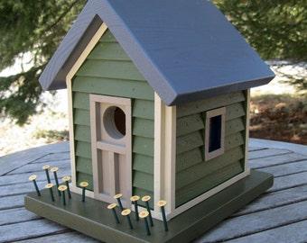 Birdhouse with Green Siding