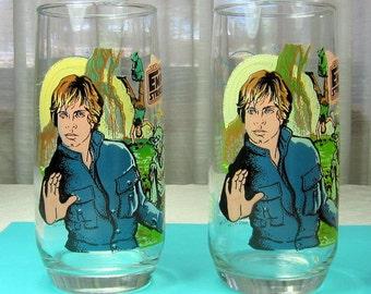 Vintage Star Wars Collectible Glasses  Burger King- Luke Skywalker- Yoda- R2D2