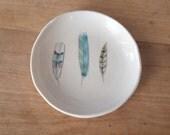 porcelain feather dish . no110