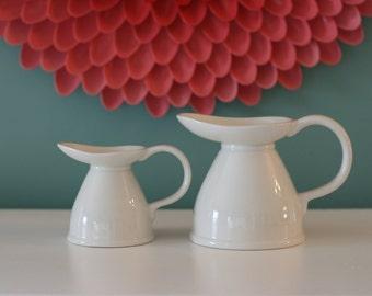 Vintage Lord Nelson Pottery White Creamer Set