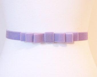 Lilac Velvet Bow Belt