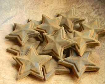 Primitive Blackened Beeswax Star Bowl Fillers  #508