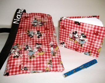 Disney Minnie and Mickey Mouse autograph book bag with book, bag and pen and autograph book PERSONALIZED for FREE Adjustable strap