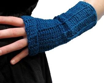 Instant download Crochet Pattern Long Slouch Fingerless Mittens