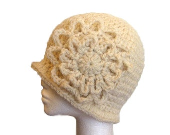 PDF Pattern Crochet Cloche Hat with Flower - Permission to sell finished items
