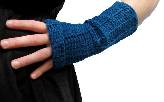 Instant download Crochet Pattern Long Slouch Fingerless Mittens