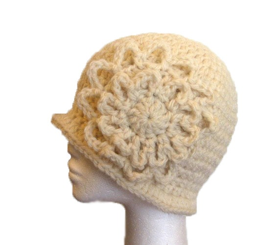 PDF Pattern Crochet Cloche Hat with Flower by MelPDesigns ...