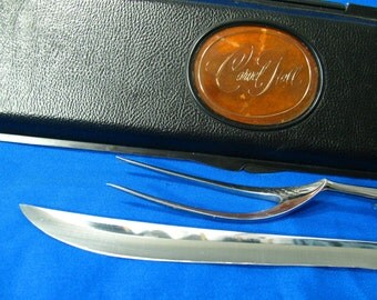 Carvel Hall Carving Knife and Fork Set from 1970s