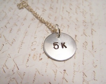 5K Necklace. Minimalist . Simple. Runner's Necklace