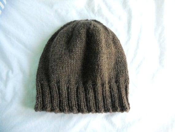 Mens Knit Beanie Pattern : Knitting Pattern PDF Mens Winter Beanie