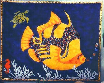 """Quilt Wall Hanging Pattern  """"Get Hooked"""""""