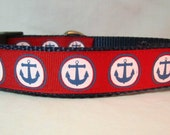 American Dog Collar, Circle Anchors, 1 inch wide, adjustable, quick release, metal buckle, martingale, chain, hybrid, nylon