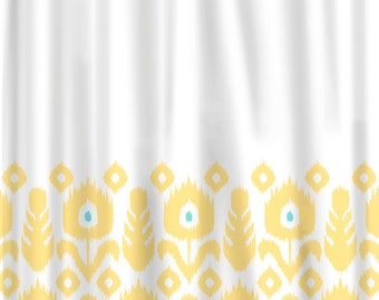 Custom Shower Curtain Simplicity 3 Stripe Border And By