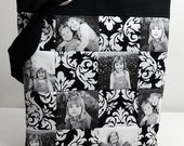 Photo Patchwork Bag Purse Custom Personalized Gift Black and White choice of fabric