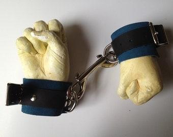 Two tone soft suede wrist restraints- adjustable- Mature