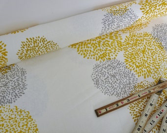 Tigre design mustard- hand printed linen by the yard- Free Shipping to USA