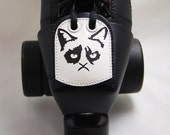 Leather Skate Toe Guards with Grumpy Cats