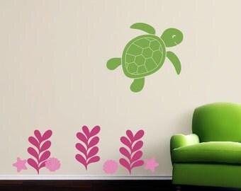 Ocean Wall Decals, Nursery Decals, Sea Turtle Wall Decal, Sea Turtle Nursery, Baby Wall Decals