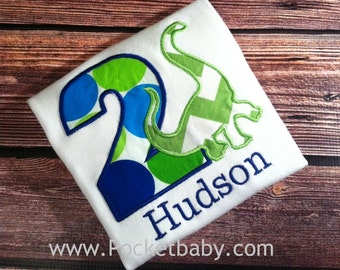 Personalized Dinosaur Birthday Shirt - You Choose your Fabric  - Dino Birthday Shirt - by Pocketbaby