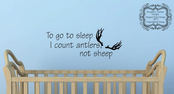 To Go To Sleep I Count Antlers Not Sheep Vinyl By