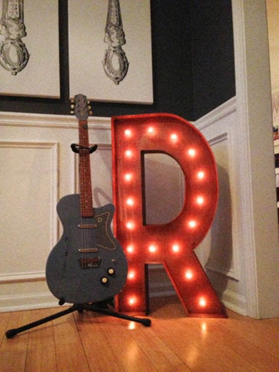 """Vintage Marquee Lights 36"""" - CHOOSE ANY LETTER"""