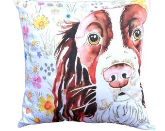 Springer Spaniel Dog cushion cover
