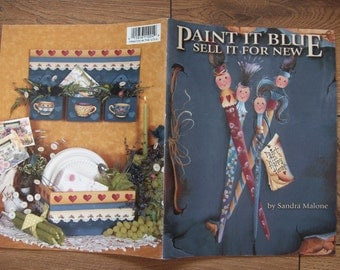 tole painting folk art painting book PAINT IT BLUE Sandra Malone