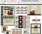 Vintage Train Party Collection Package  by Oh My Gluestick